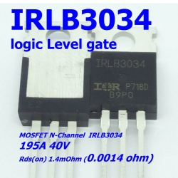 IRLB3034 Logic-Level 195A/40V Rds(on) 0.0014 Ohm N-Channel