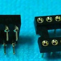 DIP8 (IC Socket Machined Pins 8Pins, 2.54mm Dip Solder Type)