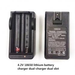 18650 lithium battery charger 3.7V4.2V dual-slot charging cradle charger Flashlight