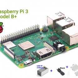 Raspberry Pi 3 Model B+ (Element14) + 5V 2A + USB wire (1m)