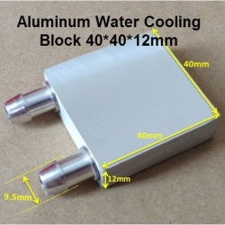 Aluminum Water Cooling Block 40x40x12mm Liquid Cooler Water block radiator for GPU CPU TEC1-12706