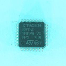 STM8S103K3T6 C (TQFP-32) Flash 8KBytes, 1KBytes RAM 640 Bytes EEPROM 16MHz, 10-Bit ADC
