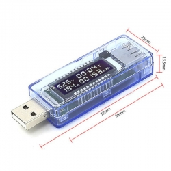 KWS-V20 (4-20V) USB Portable LCD Digital Voltage and Current Tester