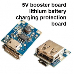 5V Step-Up Power Module Lithium Battery Charging Protection Board