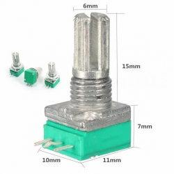 โวลลุ่ม, B10K 10Kohm Potentiometer (15mm)