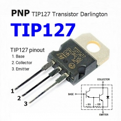 TIP127 5.0 A, 100 V PNP Darlington Bipolar Power Transistor