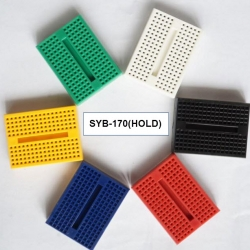 SYB-170 breadboard WHITE RED GREEN BLUE YELLOW BLACK mini small bread plate (170 hole)