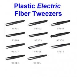 Tweezers Anti-static black carbon fiber แบบพลาสติก