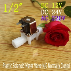 "AC220V 1/2"" Solenoid Valve For Water Air Normally Closed (NC) แถมฝาครอบ"