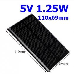 5V 1.25W 250mA Monocrystalline Silicon Epoxy Solar Panel