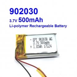 902030 3.7V 500mAh Li-polymer Rechargeable Battery Li-Po
