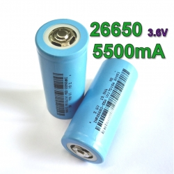 INR26650 5500mAh 15A 3.7v Rechargeable