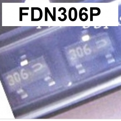 FDN306P (SOT23) 12V 2.6A Rds 30mΩ at Vgs 4.5V, P-Channel 1.8V Specified PowerTrench MOSFET