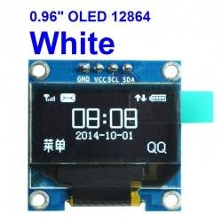 """WHITE 0.96 """" OLED display module 12864 (I2C)"""