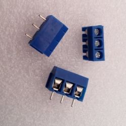 3 Poles KF301-3P Screw Terminal Block Connector 5.0mm Pitch