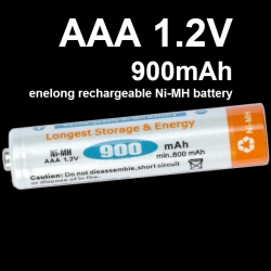 AAA 1.2V 900mAh For enelong rechargeable Ni-MH battery