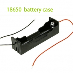 Plastic Black 3.7V 18650 Battery DIY Holder Box With Wire Leads For 18650 Batteries Storage Case Holder
