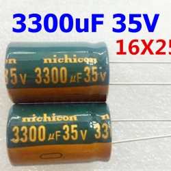 3300uF 35V Radial Electrolytic Capacitor