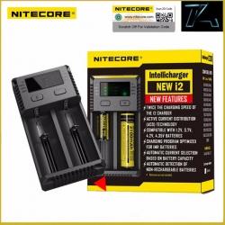 เครื่องชาร์จแบตอัจฉริยะ Nitecore NEW I2 Intellicharger Universal Battery Charger for AA AAA Li ion 26650 18650 Batteries Charging
