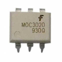 MOC3020 (DIP6) RANDOM-PHASE OPTOISOLATORS TRIAC DRIVER OUTPUT สีขาว