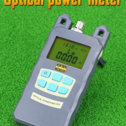 Fiber Optic Power Meter Tester Seven-Wavelength Optical Power Meter +10 to -70 Visual Fault Locator Gray