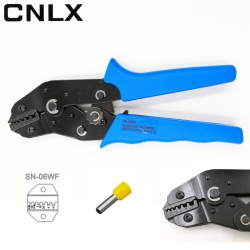 SN-06WF 0.25-6mm2 Crimping Pliers Crimper Press Hand Tool 22-10AWG for End-sleeve Cable Clamp Locking Terminals