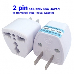 2PIN 110-220 V USA JAPAN to Universal Plug Travel Adapter