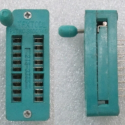ZIF Socket 18 Pin Universal ZIF DIP Tester IC -ขานิกเกิล( Nickel Pins)