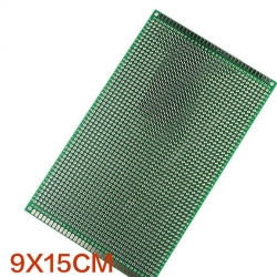 9x15 cm แผ่นปริ๊นอเนกประสงค์ Double Side Prototype PCB diy Universal Printed Circuit Board (PCB)