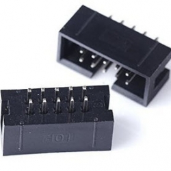 2x5 10 Pins Box Header IDC Male Sockets Straight (Pitch 2.54mm)