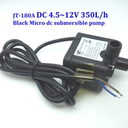 JT-180A DC 4.5~12V 350L/h (12V 0.5A) Micro dc submersible Pump