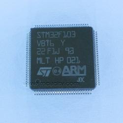 STM32F103VB (LQFP100) 128K 20KB RAM 2X12 ADC (STM32F103VBT6)