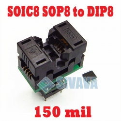 SOIC 8 (with socket 150mil) to DIP 8 Adapter