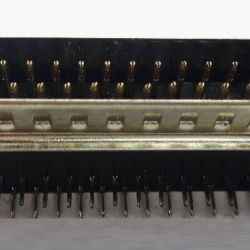 DB25 D-Sub Connector Right Angle 25Pins , Male