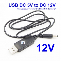 USB DC 5V to DC 12V Step up Module Converter 2.1x5.5mm Male Connector