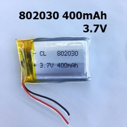 802030 3.7V 400mAh Li-polymer Rechargeable Battery Li-Po