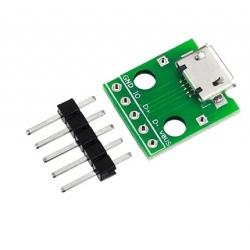 Micro B USB microUSB Breakout Board