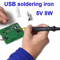 USB Soldering Iron 8W หัวแร้งใช้ไฟ 5V หรือจาก Power Bank