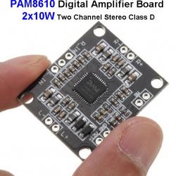 PAM8610 Digital Amplifier Board 2x10W Two Channel Stereo Class D