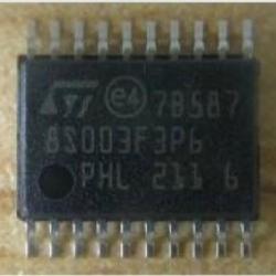 STM8S003F3P6 (SSOP-20) Flash 8KBytes, 1KBytes RAM 128 Bytes EEPROM, 16MHz, 10-Bit ADC
