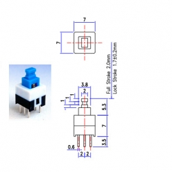 PS-22E07 PUSH SWITCH:0.3A SELF-LOCK