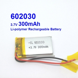 602030 3.7V 300mAh Li-polymer Rechargeable Battery Li-Po for mp3 mp4 bluetooth