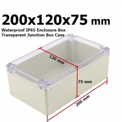 200x120x75 mm Waterproof IP65 Enclosure Box Transparent Junction Box Case