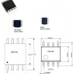 GD25Q80 (SOIC8 200mil) 8M-BIT SERIAL FLASH MEMORY WITH DUAL AND QUAD SPI