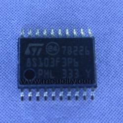 STM8S103F3P6 (SSOP-20) Flash 8KBytes, 1KBytes RAM 640 Bytes EEPROM, 16MHz, 10-Bit ADC