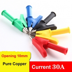 4mm plug-in high current pure copper alligator clip opening 10MM