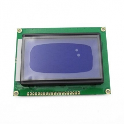 128*64 DOTS LCD module 5V blue screen 12864 LCD with backlight ST7920 Parallel port for arduino