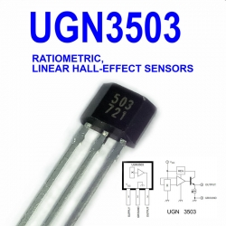 UGN3503 RATIOMETRIC, LINEAR HALL-EFFECT SENSORS UGN3503U