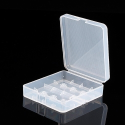 4 x 18650 Battery Case Holder Storage Box (Whtie)