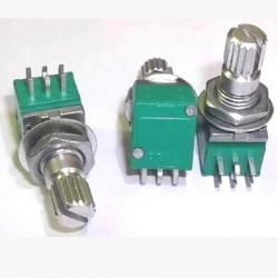 โวลลุ่ม, B10K 10Kohm Dual Potentiometer (15mm)